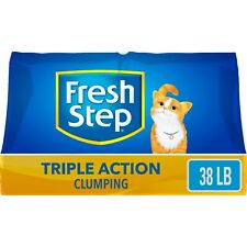 Fresh Step Triple Action Scented Litter, Clumping Cat Litter, 38 lbs