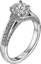 Scott Kay M1214 diamond engagement ring .38tcw 1ct center Paladium sz 6 3/4 NWT