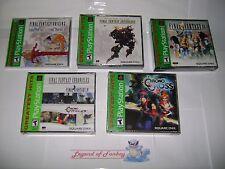 New * Final Fantasy Origins + Anthology + IX + Chronicles + Chrono Cross ps1 lot