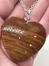 "Geode Heart Agate Druzy Crystal Tibetan Silver 18"" Necklace D-960"