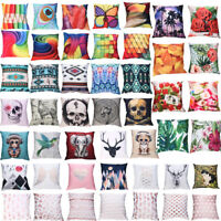 2018 Fashion Print Pillow Cases Polyester Sofa Car Cushion Cover Home Decor