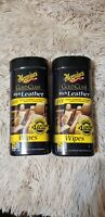 (2) Meguiar'S G10900 Gold Class Rich Leather Cleaner And Conditioner Wipes