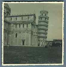 Italia, Pisa, Torre di Pisa  Vintage silver print. Italy. Pisa Tower. La Tour de
