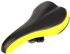 VELO Mountain Road Bike Seat Saddle Black Yellow NEW
