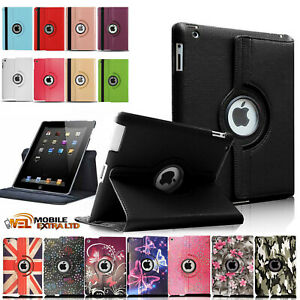 Leather 360 Rotating Smart Case Cover Apple iPad 5th 6th Generation 9.7 Inch