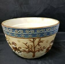 "St. Nicholas Square Serving Bowl Forest Friends  9 1/2"" x 6"" Christmas Holidays"
