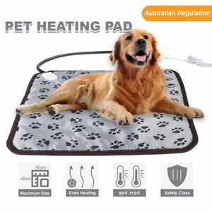 Electric Pet Heat Mat Heated Pad Dog Cat Heating Blanket Bed Waterproof AU Plug
