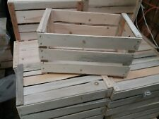 Set 3 cassette della frutta in legno nuove allestimento 50x30x27 peso 2 kg
