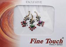 Bindi bijou de peau front Bollywood multicolore dot tilak INF D 984