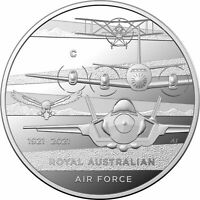 2021 $1 'C' Mintmark Silver Proof Coin -Heroes of the Sky-Centenary of Royal Aus
