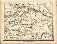 Carte de 1828 d'Arménie-Colchis. Albanie & Iberia. Par J. Vincent d'Oxford