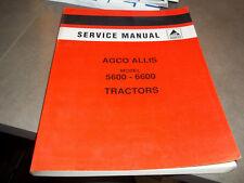 AGCO ALLIS models 5600-6600 Tractors Service Manual