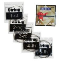 Electric BASS Guitar Set of 5 Strings Spock 40-125 High Quality Silver low B
