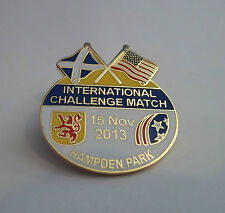 SCOTLAND VS U.S.A CHALLENGE MATCH 2013 BADGE