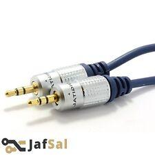 3m Metro HQ OFC SCHERMATO 3.5mm Jack Stereo A Jack Per Cuffie Cavo Piombo Gold UK