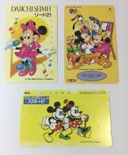 Tokyo Disneyland Vintage Phone Cards Used Lot Of 3 - (7233)