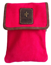 Red Small Pocket Cross Body Bag - RFID Protected - Cactus. Size: 18.5 x 13 x 3cm