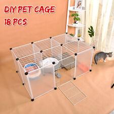 AU 18 Panel Cat Dog Pet DIY Villa Exercise Cage Fence Enclosure Play Pen