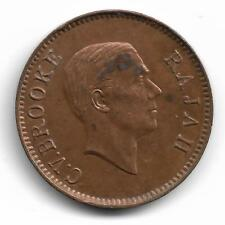 Sarawak Rajah C.V. Brooke One Cent Coin - 1937 ! !