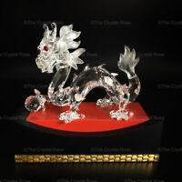 RARE Swarovski Crystal Annual Edition 1997 Dragon + Stand 208398 Mint Boxed
