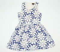 Yumi Womens Blue Floral  Skater Dress  Size 14