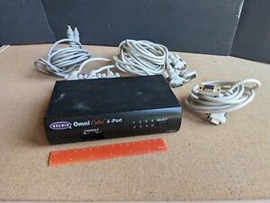 Belkin Omnicube 4-Port KVM Switch F1D094 VGA & PS/2 - Includes some cables