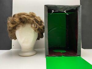 Vintage1960s Brentlon Wig and Case Curly Brown Auburn Hair Full head of Hair!