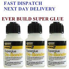 Super Glue DeBonder Remover SuperGlue Removal Cleaner Large 20ml Bottle NEW