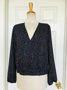 MADEWELL by J. CREW polka dot top size L Nordstrom