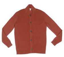 Massimo Alba Italy 100% Cashmere Rustic Red Button Cardigan Sweater Small - 9429
