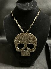 """Costume 2 1/2 """" Floral Goldtone Skill 28""""chain Necklace"""
