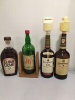 Vintage Gallon Elijah Craig Seagrams 7 JB Whiskey Glass Bottles Empty Bar Drink