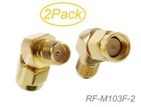 2-Pack SMA Male to SMA Female 45-degree Adapter for FPV Goggles Antenna