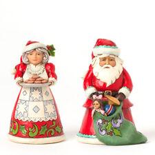 Jim Shore Pint Sized Santa & Mrs. Claus Figurine Set ~ Tis The Season ~ 4041073
