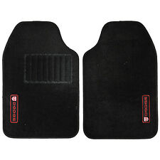2 piece Front black Carpet Floor Mats Red logo Universal-fit for Dodge