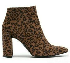 $550 Stuart Weitzman Pure Ankle Bootie Women's Suede Heel Boots Cheetah Size 6
