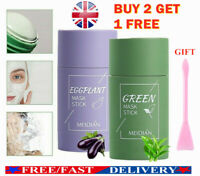Green Tea Purifying Clay Stick Mask Oil Control Anti-Acne Eggplant Fine Solids❤