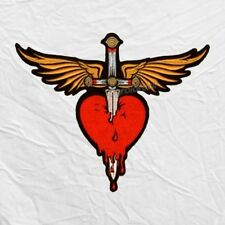 Bon Jovi Winged Heart with Dagger Logo Embroidered Big Patch Jon John Richie
