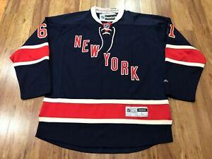 LARGE - 2014 NHL New York Rangers #61 Rick Nash Reebok Glued Sewn Jersey