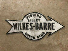 Wilkes Barre Pennsylvania guide marker road sign 1910s Wyoming Valley Motor Club