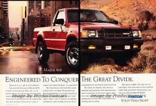 1989 Mazda B2600i Truck 2-page Advertisement Print Art Car Ad J864
