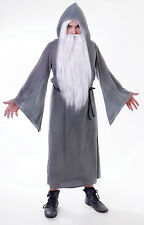 GREY WIZARD CLOAK GANDALF ADULT ONE SIZE FANCY DRESS HALLOWEEN COSTUME