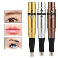 Microblading Permanent Makeup Machine Power Eyebrow Lips Tattoo Pen Supply Kit A