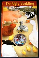 RARE!! THE UGLY DUCKLING COLORIZED COIN STORY BOOK ISLE OF MAN CUPRO NICKEL 2005