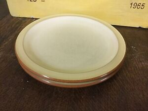Denby - Fire Yellow Salad/dessert Plates X2