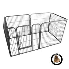 Ellie-Bo Heavy Duty 6 Piece Puppy Dog Play Pen Enclosure Welping Pen 80cm High