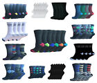 6 Or 12 Pairs Socks Men's Luxury Cotton Designer Socks With Smooth Toe Size 6-11
