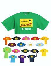 T-Shirt Kindergarten Schule Schulkind mit Wunschnamen Valueweight T F140K