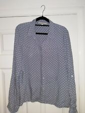 Next Blue Polka Dot Shirt Size 16