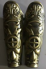 Leg Armor Pair 2 Pieces Gold Roman Greek Egyptian  23820